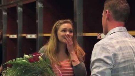 Pro Hockey Player Surprises Fan
