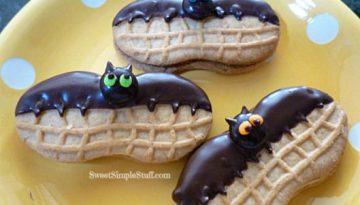 Nutter Butter Bat Cookies SweetSimpleStuff.com