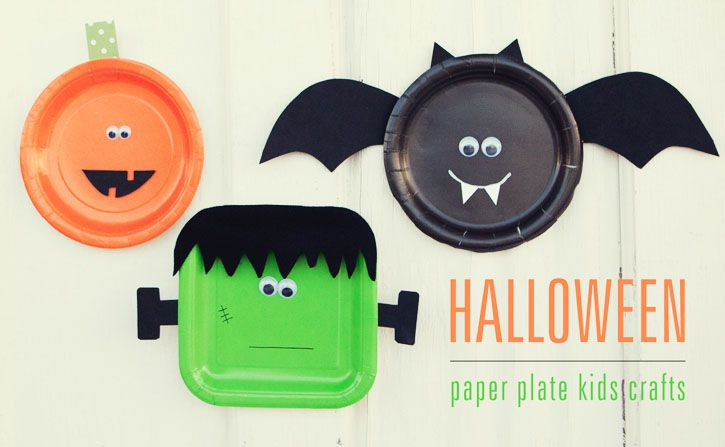 paper plates - tipjunkie.com & Best of Pinterest: Halloween Crafts - The Mother List