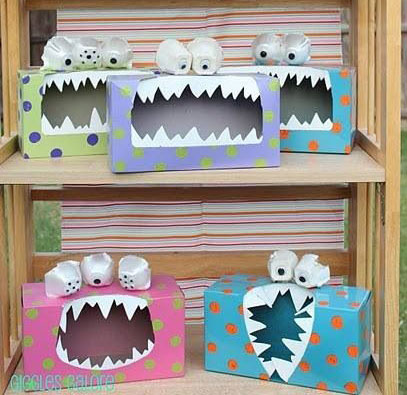 tissue box monsters sm - Pinterest Halloween Craft