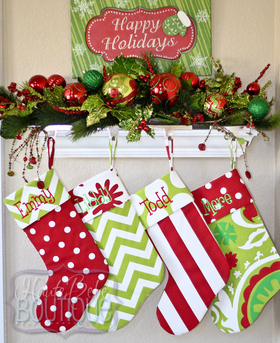 personalized christmas stockings by hautebebeboutique hautebebeboutique