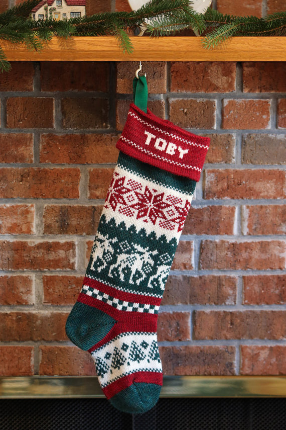 moose christmas stockings by terrapinknits terrapinknits - Moose Christmas Stocking