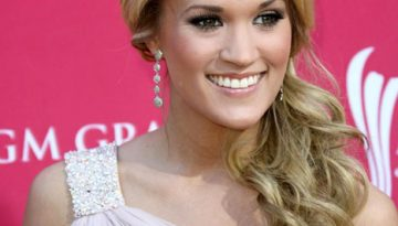 Carrie Underwood Side Swept Hair