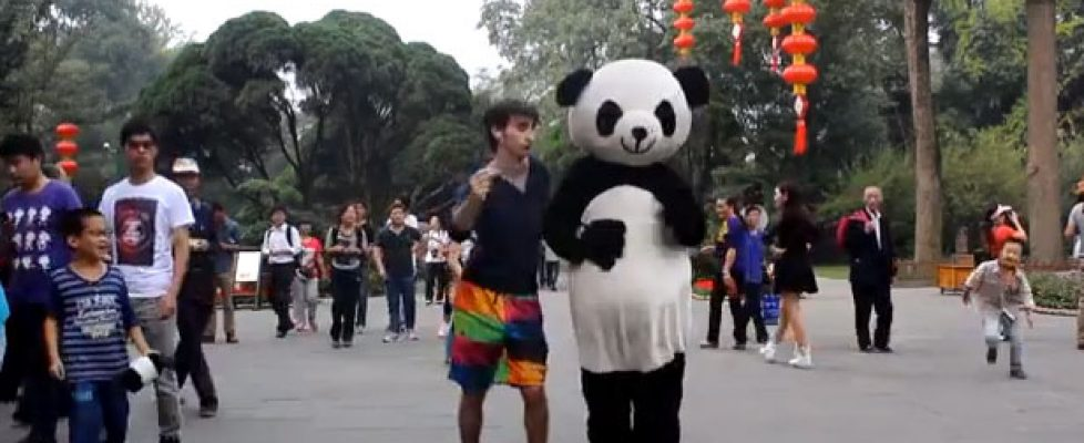 College Student Dances Across China