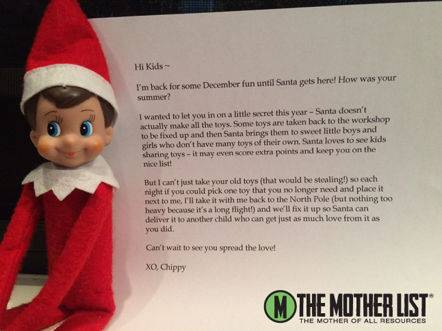 Elf on the Shelf Letter TML logo