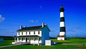 Bodie Island Lighthouse and House Cape Hatteras National Seashore